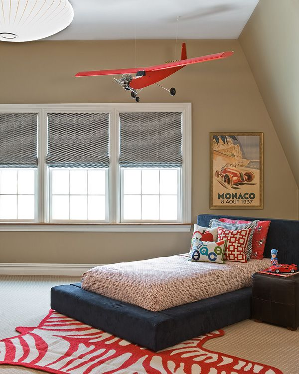 aero-themed toddler room