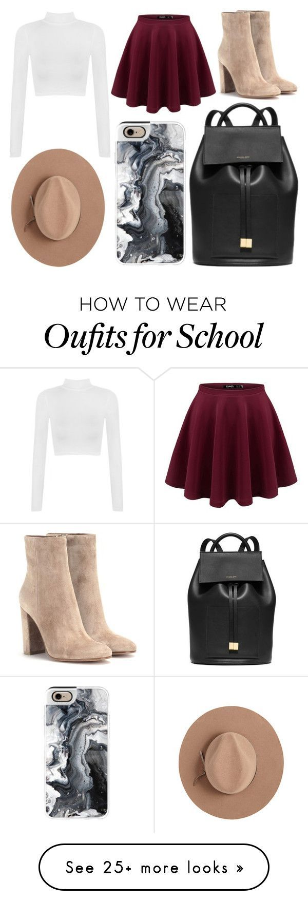 """School Day"" by susanna-trad on Polyvore featuring Gianvito Rossi, WearAll, Michael Kors, Satya Twena and Casetify"