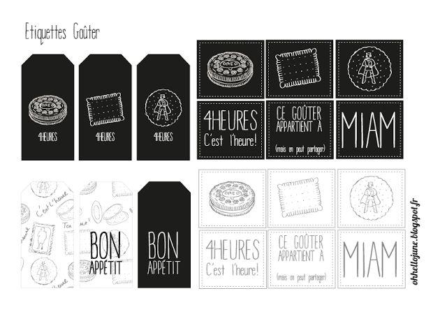 Étiquettes à imprimer - cuisine - goûter - blog hello june