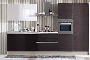 Стильная маленькая кухня венге Подробнее: http://taburetti.kiev.ua/2016/01/22/stilnaya-malenkaya-kuhnya-venge/  #мебель #кухня