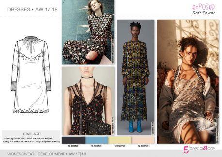 FW 2017-18 trend forecasting- Development - DRESSES: star lace