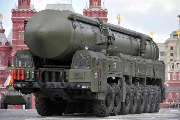 "A Russian RT-2UTTKh Topol-M or SS-27 ""Sickle B"" mobile nuclear intercontinental ballistic (RS-24 a 550 kT yield nuclear warhead) missile platform."