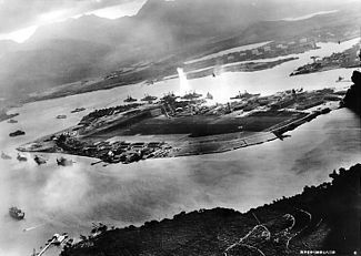 December 7, 1941 – World War II: Attack on Pearl Harbor – The Imperial Japanese Navy attacks the United States Pacific Fleet and its defending Army Air Forces and Marine air forces at Pearl Harbor, Hawaii, causing a declaration of war upon Japan by the United States. Japan also invades Malaya, Thailand, Hong Kong, the Philippines, and the Dutch East Indies at the same time (December 8 in Asia).