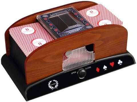 Da Vinci Wood Grain Deluxe 1 to 2 Deck Automatic Playing Card Shuffler by Da Vinci. $14.55. Real Atractive Wood Panel Wotks with Any Standard Deck of Cards, Includes card return tray