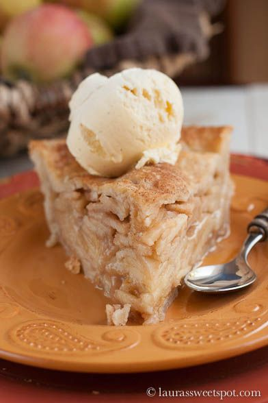 DEEP DISH APPLE PIE:  The only other pie maker I found who puts graham cracker crumbs in the piecrust before dumping the apple mixture in. It keeps the bottom crust from getting soggy.