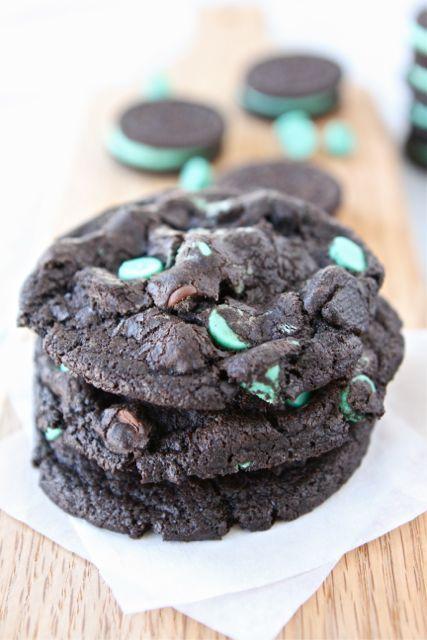 Chocolate Mint Oreo CookiesChocolate Mints, Chocolates Chips, Chips Cookies, Mint Cookies, Mint Chocolates, Chocolates Mint, Chocolate Chip Cookies, Oreo Cookies, Mint Oreo