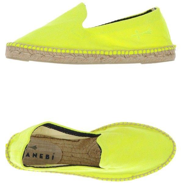 Manebí Espadrilles (163.350 COP) ❤ liked on Polyvore featuring shoes, sandals, yellow, flat espadrilles, round toe shoes, espadrille shoes, yellow espadrilles and manebi espadrilles