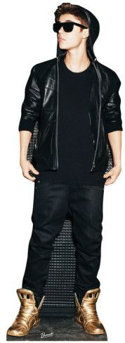 Justin Bieber  Lifesize Standup Poster Stand Up at AllPosters.com - Going to mount this on the wall and personalize it and turn it into a growth chart for Bella