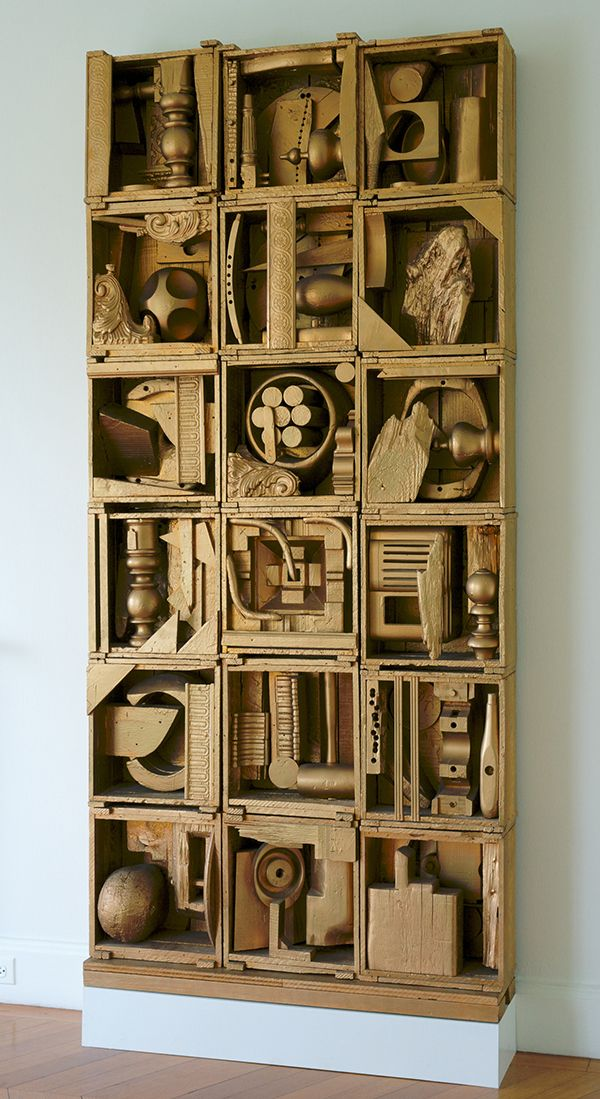 ASSEMBLAGE Louise Nevelson, Royal Tide 1 (1960). Photo: courtesy Storm King Art Center.