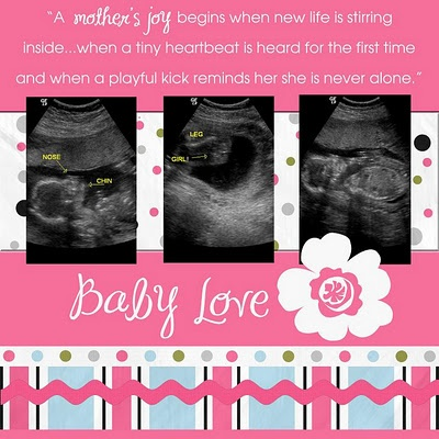 ultrasound ideas, except I won't be finding out the sex of the next baby.