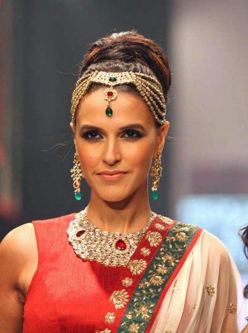 IIJW Fall 2013 - gintanjali gems neha dhupia gold ruby bridal jewelery
