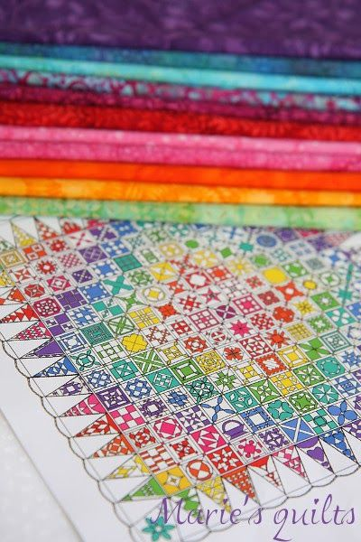 Marie's quilts: Проект Dear Jane. Март.