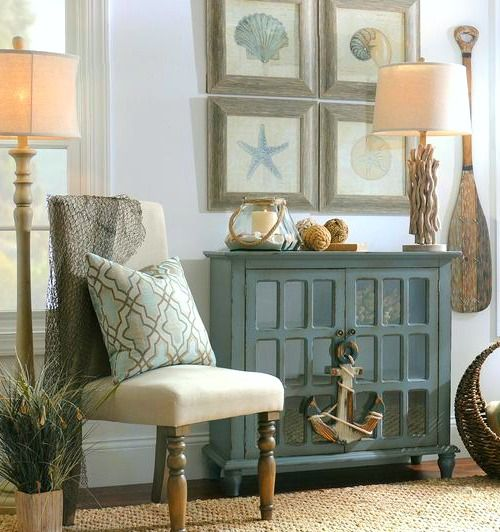Marvelous Rustic Coastal Beach Cottage Wall Decor And Ideas That Capture Beachy  Colors And Coastal Icons Like Anchors, Starfish, Seashells, And Others.