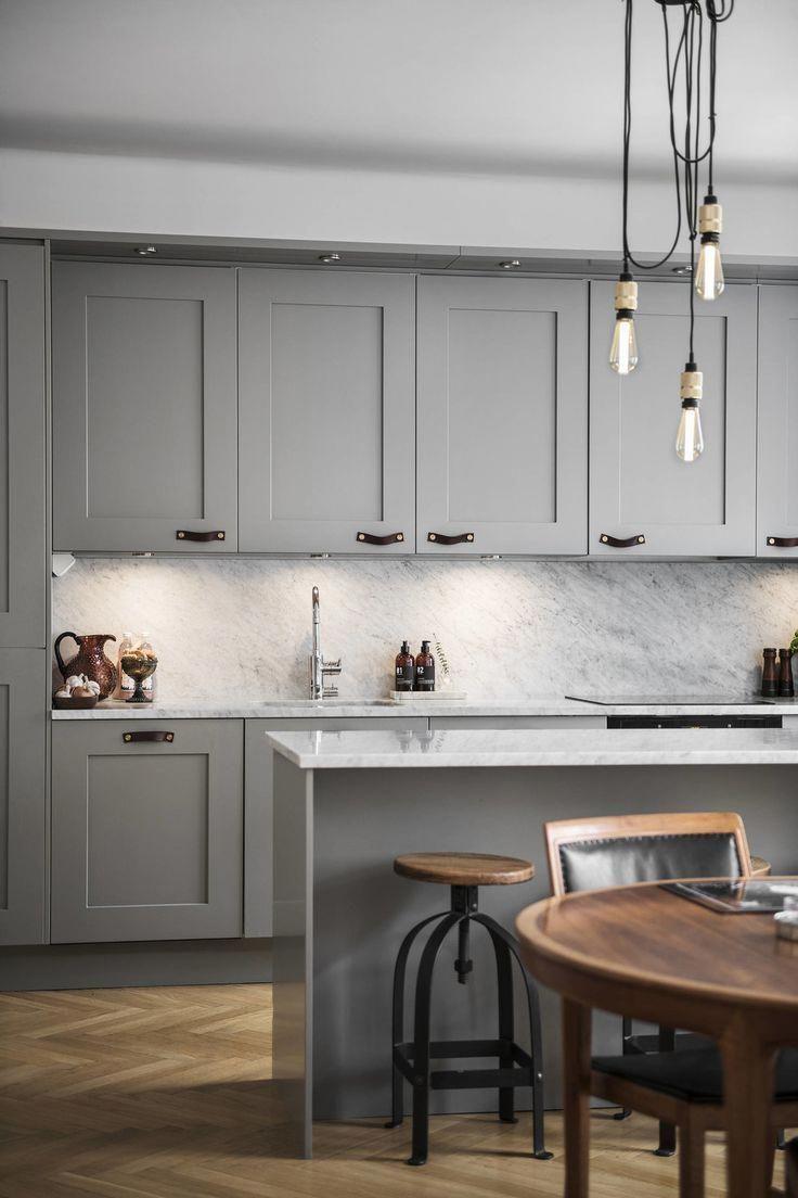 Grey Scandinavian Kitchen Modernhomedecorkitchen Greige Kitchen Scandinavian Kitchen Kitchen Design Small