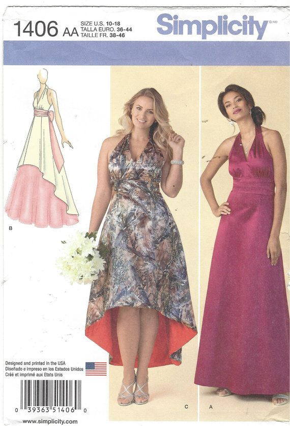 Womens Special Occasion Dress High Low Hemline by CloesCloset