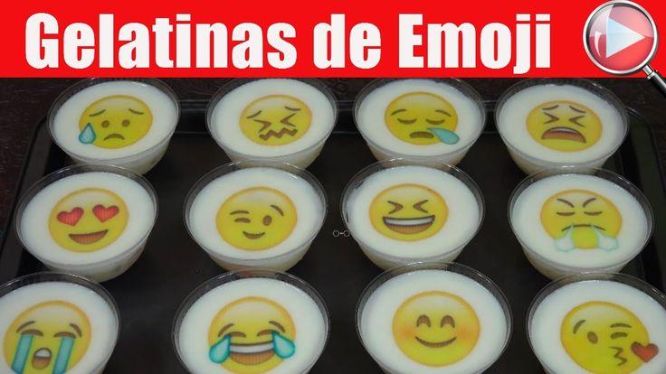 Gelatinas Individuales con Transfer de Emoji / Casayfamiliatv ** Casayfamiliatv.com