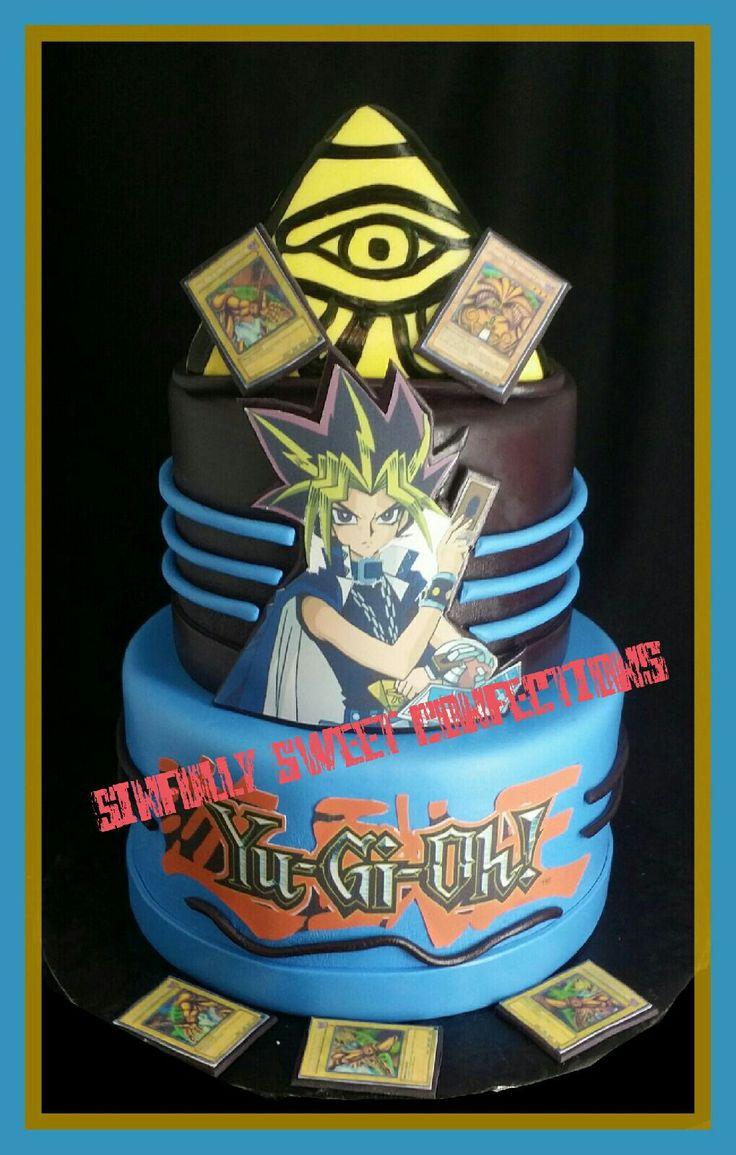yu gi oh birthday themed cake  funny birthday cakes