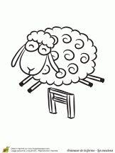 Les 16 meilleures images du tableau coloriages mouton sur - Dessin tete de mouton ...