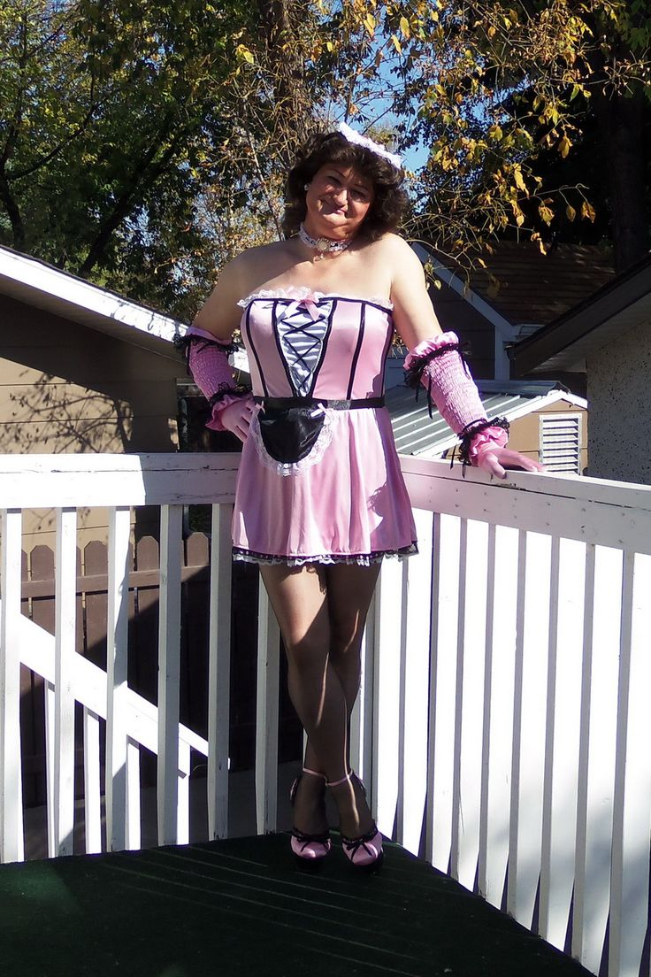 """Twice As Dirty"" French Maid Dress - By Dreamgirl - Bought off Amazon. Wearing Ars Vivendi Blackfoot seamed stockings and Pleaser Delight 676 stiletto heels"