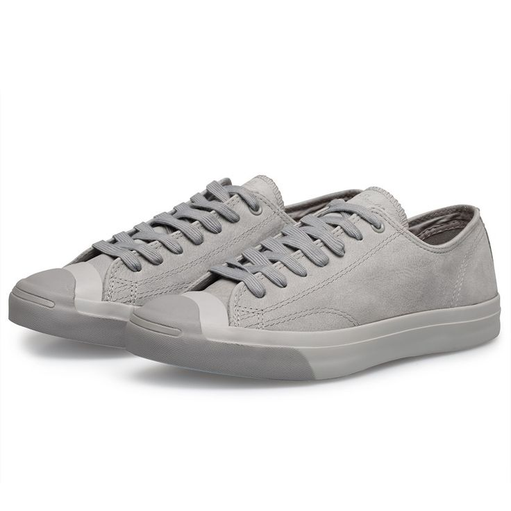 The Jack Purcell sneaker series from Converse reinterprets classic styles with modern craftsmanship and superior comfort. This suede edition of the Jack Purcell is revitalised in a tonal dolphin grey colourway, with a complimenting light grey outsole and dark grey trim and toe cap. Updated with embossed branding on the heel, stitch Purcell name tag on the tongue and a cork effect insole for added comfort and support, these Jack Purcell Sneakers will be a clean and contemporary additio...
