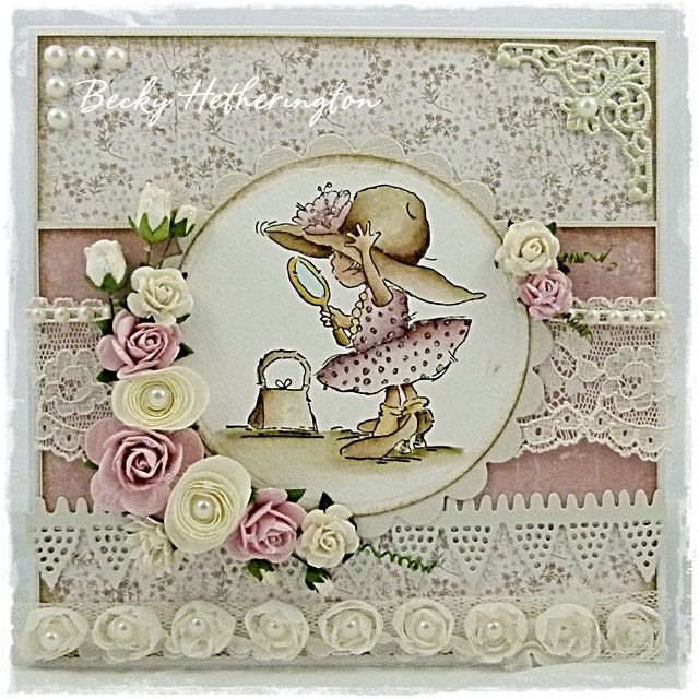 One of my favourite ever stamps from Lili of the Valley inked to perfection by Becky Hetherington in this utterly gorgeous card.