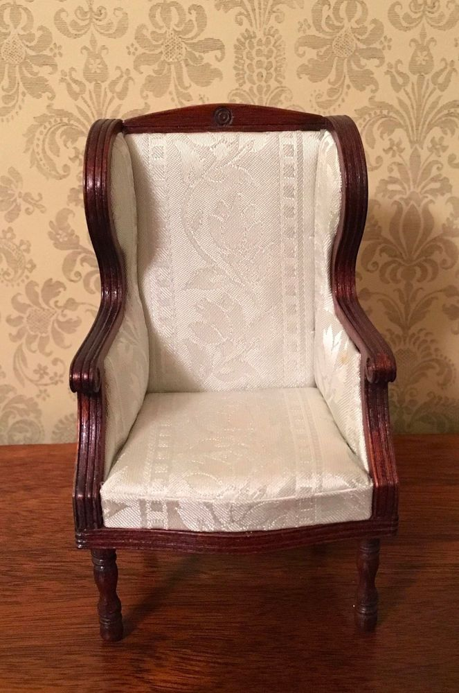 Dollhouse Miniature Artisan David Booth Wing Chair