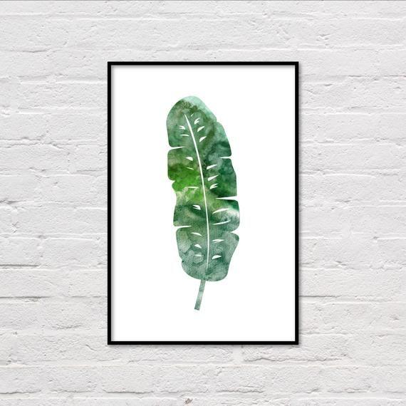 Affiche De Feuille De Bananier Palmier Feuille Impression Grand