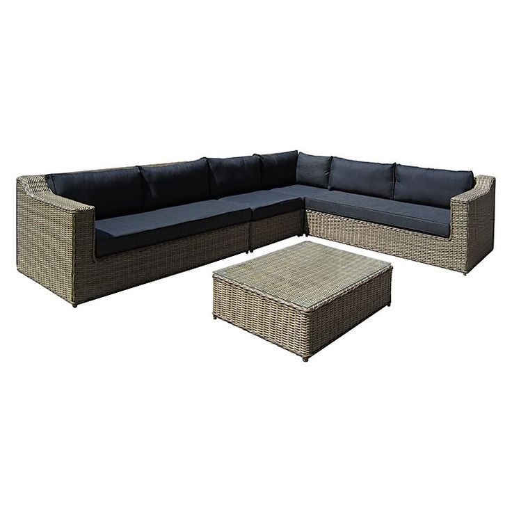 Stretch out and catch some rays with the Dubai 4-Piece Modular Outdoor Lounge Set from Sunlong.