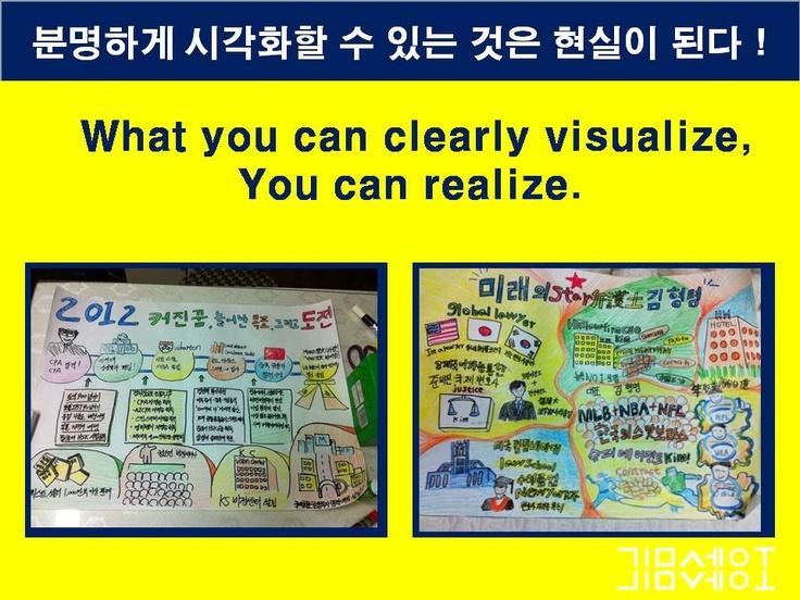 '분명하게 시각화 할 수있는것은 실현될 수있다.' 당신의 꿈을 시각화하라!-드림빌딩-