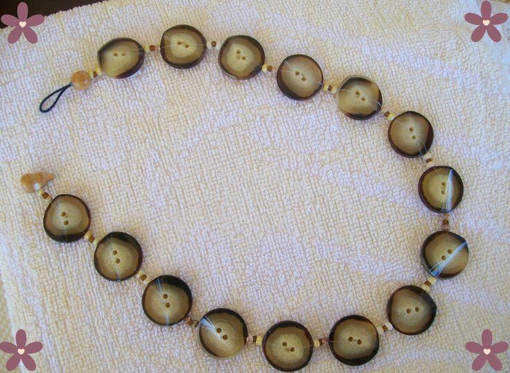 buttons_collana con bottoni.  Handmade jewellery