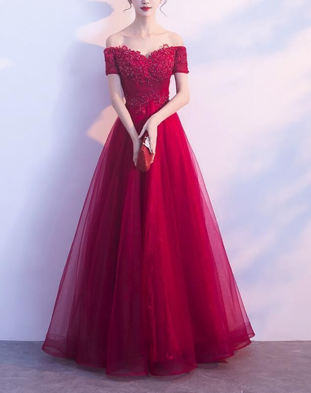 290dda23e46 Any things please feel free to contact to us   WeddingPromDresses outlook.com         Product Detail        Fabric Tulle  Product Number   0SV5 Color Dark Red ...