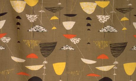 Lucienne Day - textile-design  Calyx, the fabric design that brought her fame