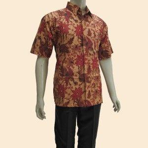 toko yang jual model kemeja batik pria lengan pendek berbahan katun untuk pakaian kerja formal dan santai harga paling murah kualitas terbaik