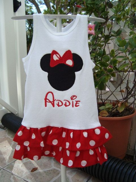 Mickey mouse Tank Top Dress by knorried001 on Etsy, $19.00