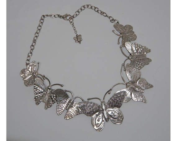 Sterling silver butterfly necklace.