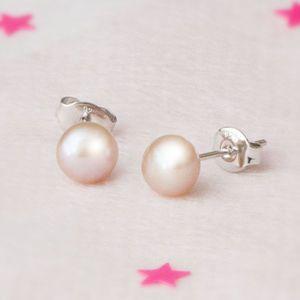 Darcey Fresh Water Pearl Stud Earrings - earrings