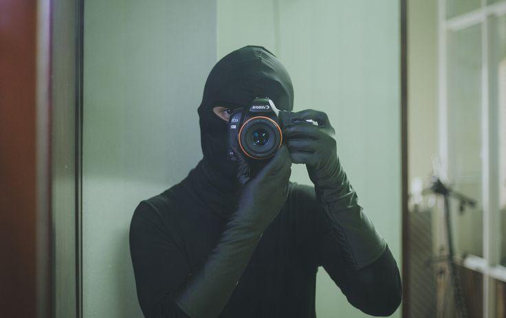 Burglar selfie in long gloves | Cat Burglar Couture | Long ...