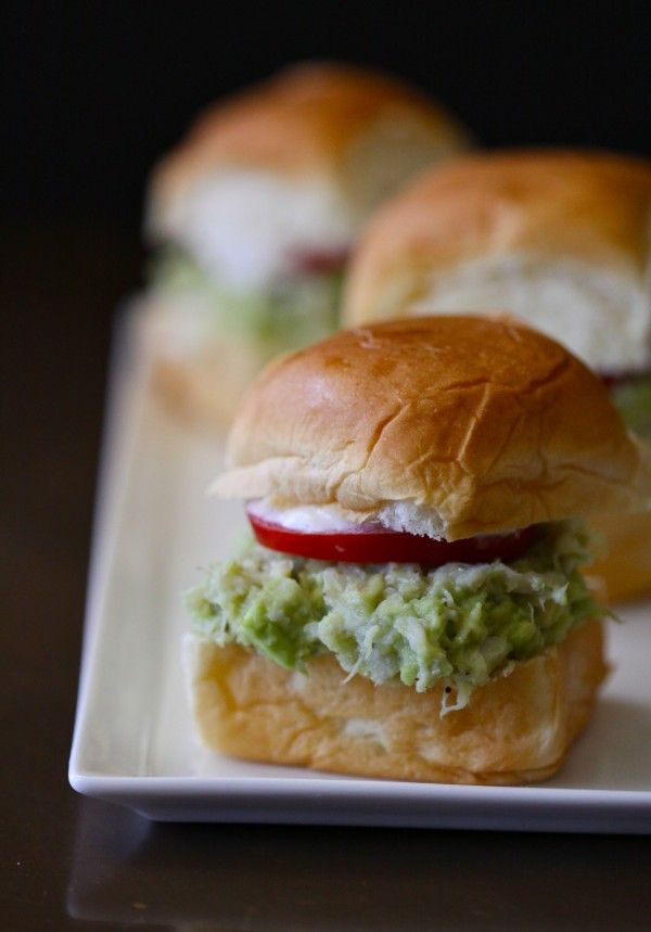 Avocado and Crab Sliders with Lemon Aioli from Climbing Grier Mountain