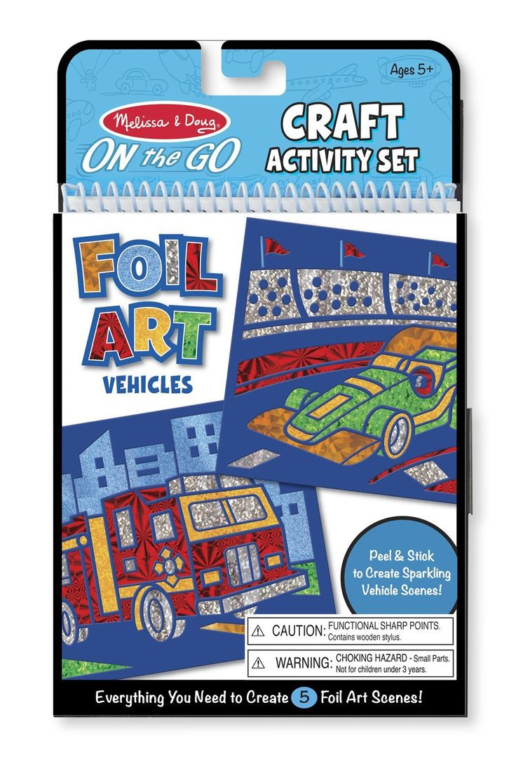 Whitman hot wheels coloring book - On The Go Craft Foil Art Vehicles