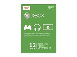 Microsoft Xbox LIVE 12 Month Gold Membership (Digital Code) $39.99 (Reg. $59.99) Limited time offer.