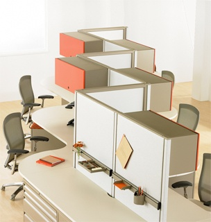 Equity By Knoll Utilizes 120 Degree Planning To Create Workes Which Are Easily Modified