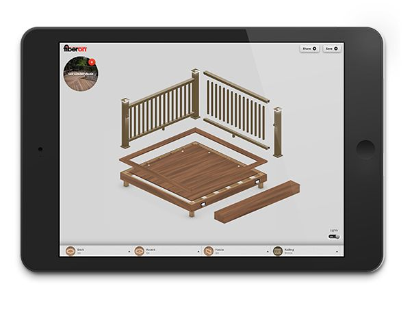 410 best composite decks by fiberon images on pinterest for Pool deck design tool