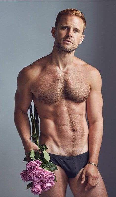 Handsome hairy gay men