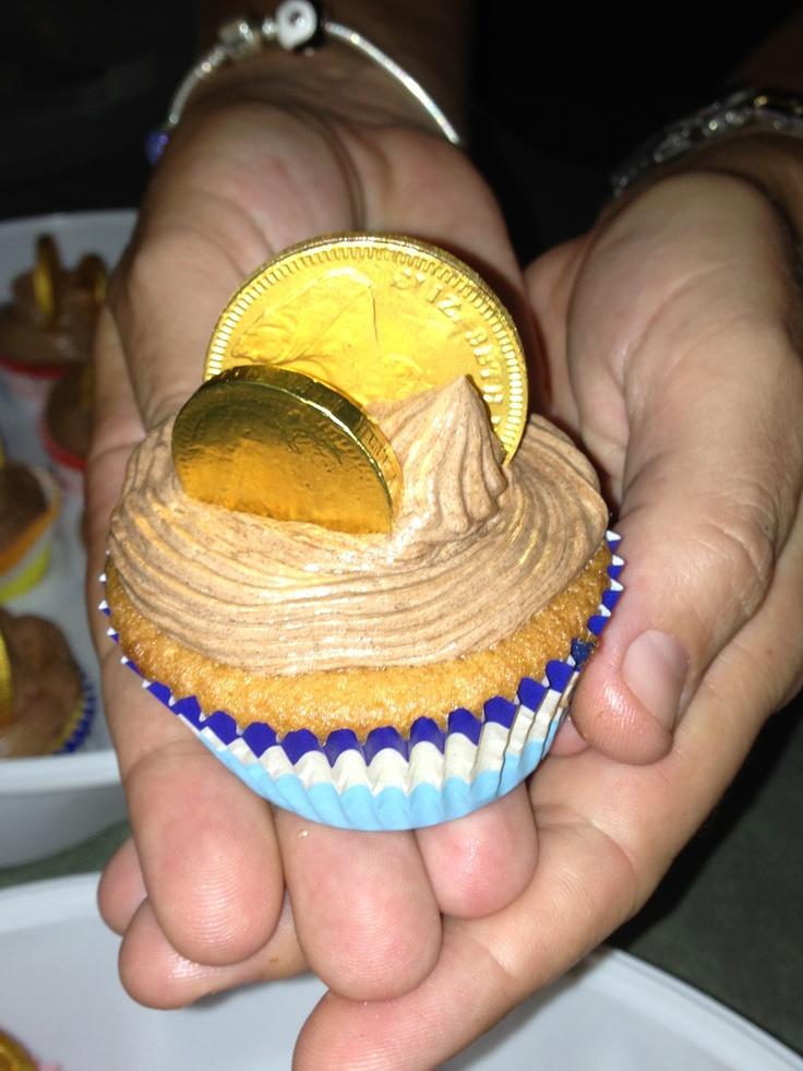 Pirate treasure chocolate cakes