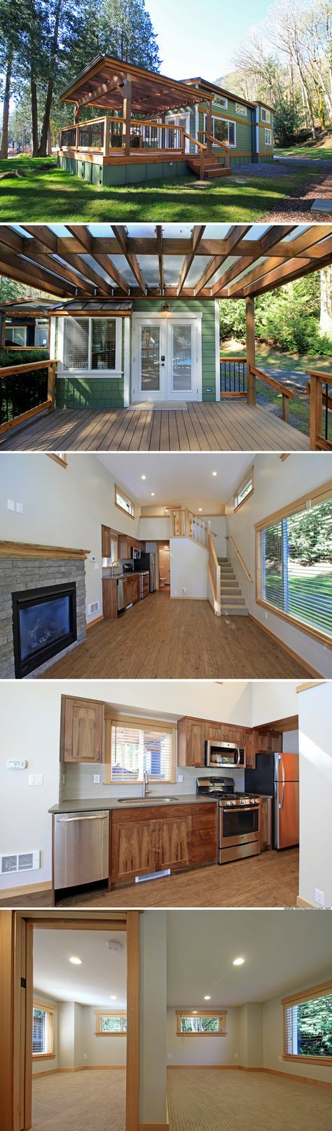 The whidbey a luxury 400 sq ft park model home tiny for Whidbey tiny house