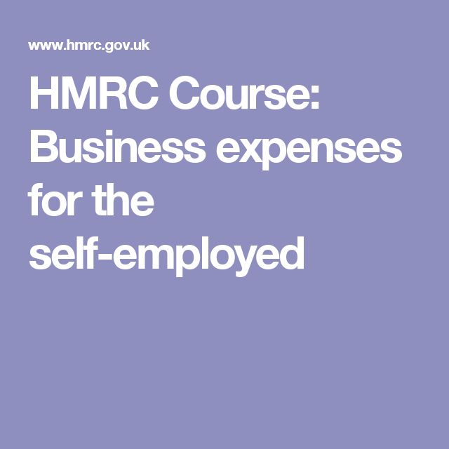 HMRC Course: Business expenses for the self-employed