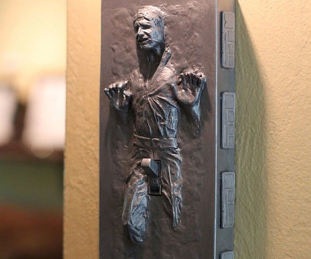 Han Solo Frozen Light Switch Cover - https://interwebs.store/han-solo-frozen-light-switch-cover/ #HomeDecor, #StarTrek