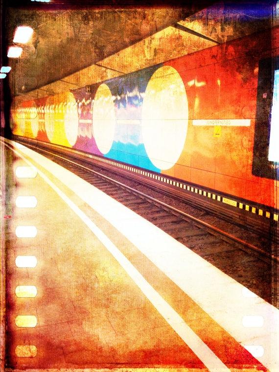 Jungfernstieg Hamburg Train Station Art Photo Print