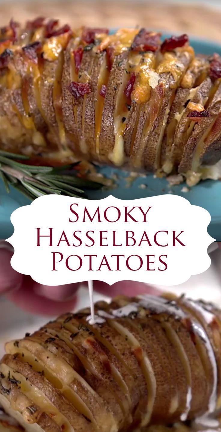 Smoky Hasselback Potato Recipe | Here's a fun way to bake a potato ...