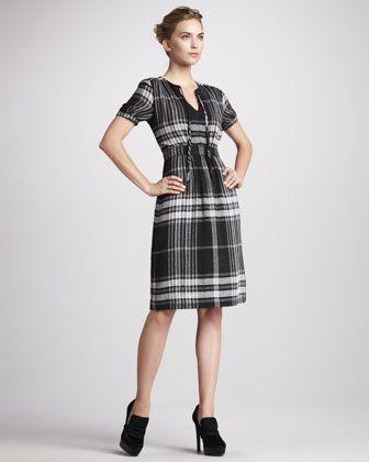 Exploded-Check Dress by Burberry Brit at Neiman Marcus. #NMFallTrendsExplodedcheck Dresses, Brit Explodedcheck
